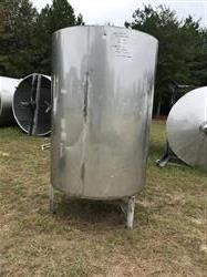 Image 500 Gallon Insulated Tank with Closed Top, Cone, Hinged Lid - 316 Stainless Steel  1434247