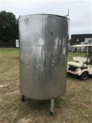 Image 500 Gallon Insulated Tank with Closed Top, Cone, Hinged Lid - 316 Stainless Steel  1434256