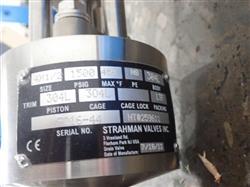 Image STRAHMAN PDCPM Pipe Mounted SS Piston Valve - New Surplus 1436483