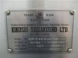 Image 45 Station KIKUSUI C/P C45 DC Tablet Press 1439477