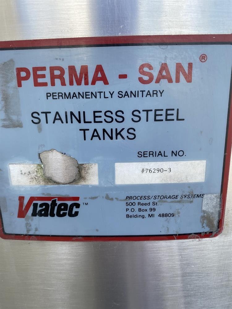Image 1611 Gallon PERMASAN Single Wall Tank - 316 Stainless Steel 1502764