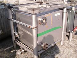 Image 150 Gallon TRANSTORE Portable Liquid Tote - Stainless Steel 1441333