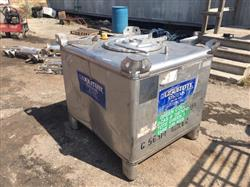 Image 300 Gallon HOOVER GROUP INC. Liquid Tote - Stainless Steel 1441334