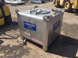 Image 300 Gallon HOOVER GROUP INC. Liquid Tote - Stainless Steel 1441352