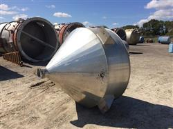 Image 450 Gallon 30 Degree Cone Bottom Hopper - Aluminum 1441343