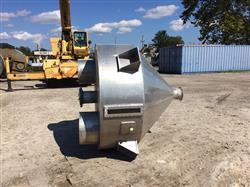 Image 450 Gallon 30 Degree Cone Bottom Hopper - Aluminum 1441344