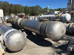 Image 1,450 Sq. Ft. AT&F ADVANCED METALS Shell and Tube Heat Exchanger 1441603