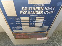 Image 2,395 Sq. Ft. SOUTHERN HEAT EXCHANGER Shell and Tube Heat Exchanger 1441616