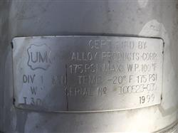 Image 5 Gallon ALLOY PRODUCTS Pressure Tank - 304 Stainless Steel 1441860