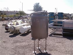 Image 100 Gallon OVERLY INC. Vertical Pressure Tank - Stainless Steel 1441878