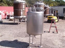 Image 100 Gallon OVERLY INC. Vertical Pressure Tank - Stainless Steel 1441879
