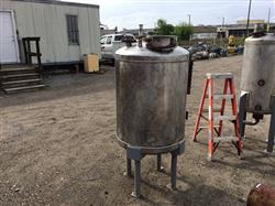 Image 100 Gallon PERRY PRODUCTS Vertical Pressure Tank - Stainless Steel 1441882