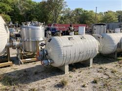 Image 400 Gallon STANDARD BOILER & TANK Horizontal Heater Tank - 316L Stainless Steel 1567075