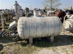 Image 400 Gallon STANDARD BOILER & TANK Horizontal Heater Tank - 316L Stainless Steel 1567071