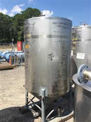 Image 500 Gallon Vertical Tank - 304 Stainless Steel 1441976
