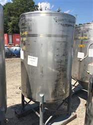 Image 500 Gallon Vertical Tank - 304 Stainless Steel 1441979