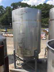 Image 500 Gallon WALKER Vertical Tank - 304 Stainless Steel 1442001
