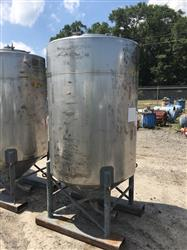 Image 500 Gallon WALKER Vertical Tank - 304 Stainless Steel 1442004