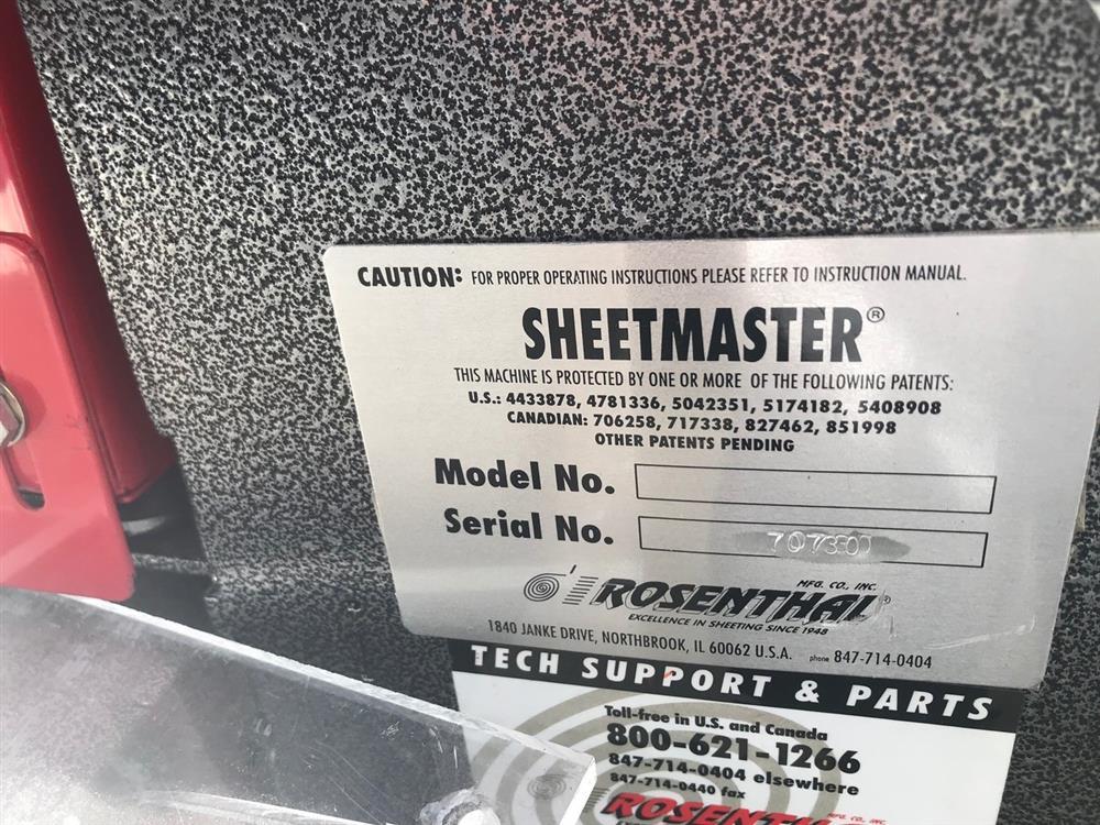 Image ROSENTHAL SheetMaster Sheeter 1444564