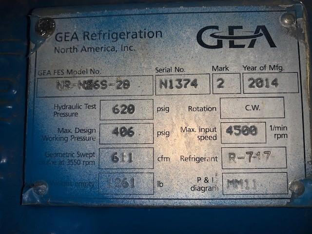 Image GEA Ammonia Compressor 1443315