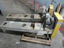Image 8in Dia. X 60in Long Carbon Steel Screw Conveyor with Stainless Steel Top Cover 1443341