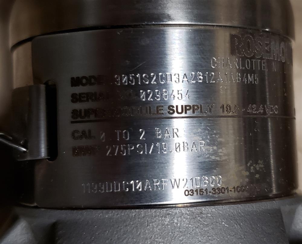 Image ROSEMOUNT DP Transmitter - Model 3051S2CD3A2B12A1AB4M5  1443694