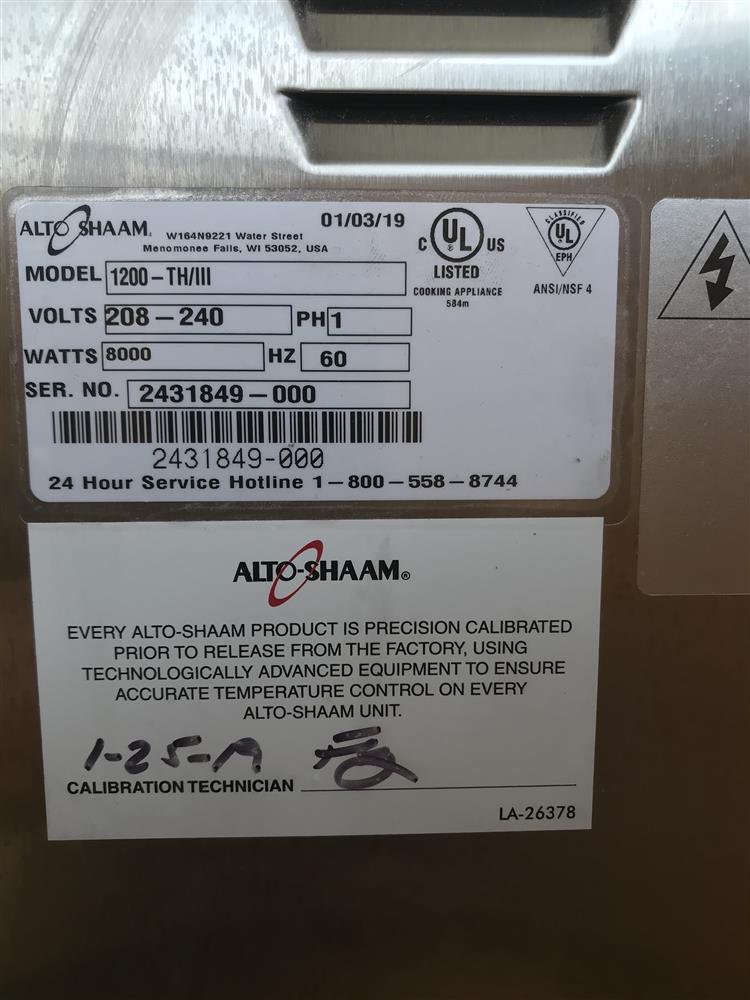 Image ALTO SHAAM 1200 TH/III Oven 1447318