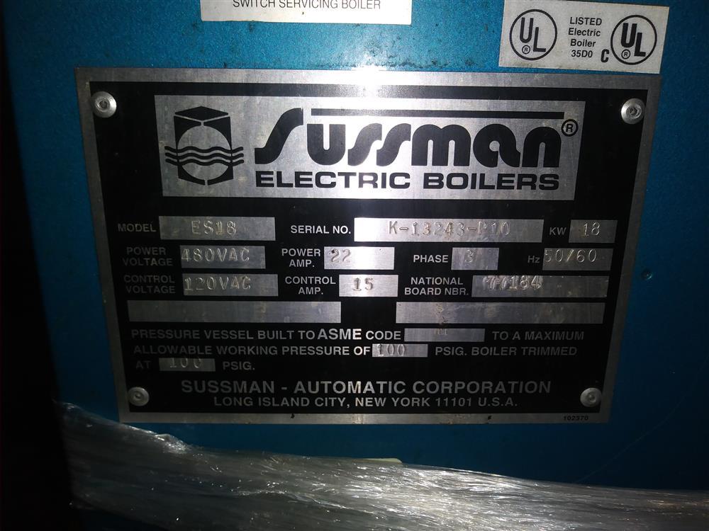 Image SUSSMAN ES18 Electric Boiler 1447627