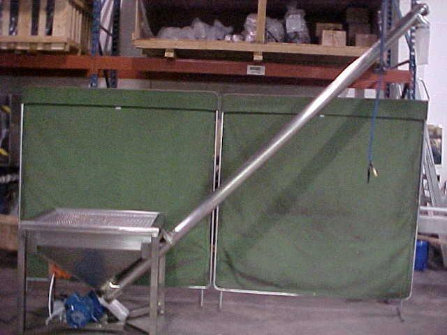 Image 4in Dia X 8ft Incline Screw Conveyor - Never Used 1447751