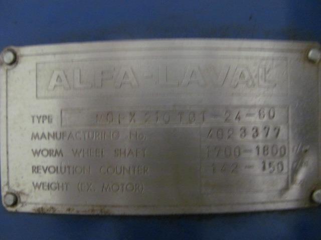 Image ALFA LAVAL Oil Purifier 1517200