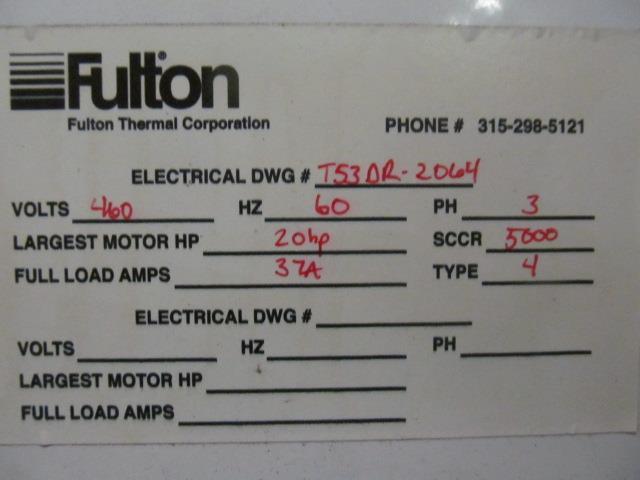 Image FULTON Thermal Fluid Heater - 3.2 MMBTU 1517245