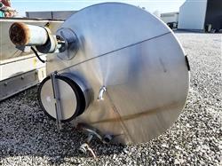 Image 1,200 Gallon JV NORTHWEST INC. Vertical Mix Tank - Stainless Steel 1496294