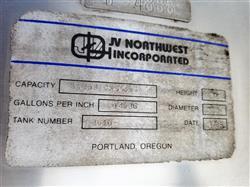 Image 1,200 Gallon JV NORTHWEST INC. Vertical Mix Tank - Stainless Steel 1496295