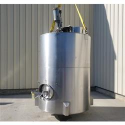 Image 1,200 Gallon JV NORTHWEST INC. Vertical Mix Tank - Stainless Steel 1449307
