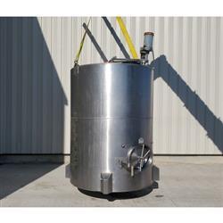 Image 1,200 Gallon JV NORTHWEST INC. Vertical Mix Tank - Stainless Steel 1449308
