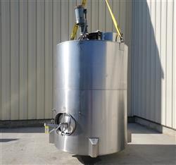 Image 1,200 Gallon JV NORTHWEST INC. Vertical Mix Tank - Stainless Steel 1496288