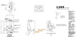 Image 1,200 Gallon JV NORTHWEST INC. Vertical Mix Tank - Stainless Steel 1496290