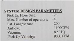 Image DUROVAC Industrial Vacuum System with GARDNER DENVER-SUTORBUILT Vacuum Pump 1517341