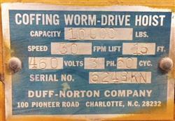 Image COFFING Worm Drive Hoist 1450781