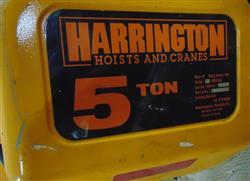 Image 5 Ton HARRINGTON Crane Hoist with Pendant Control 1451024