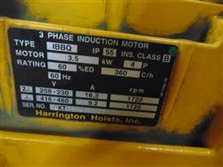 Image 5 Ton HARRINGTON Crane Hoist with Pendant Control 1451015