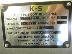 Image KOMLINE SANDERSON KOMPRESS Belt Filter Press System - Model G-GRSL-1 Series III  1451585