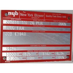 Image NEW YORK BLOWER 24 PLR Plug Fan  1453120