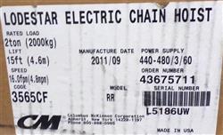 Image CM LODESTAR Electric Chain Hoist - Model RR 1453547