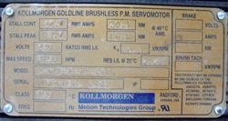 Image KOLLMORGEN GOLDLINE Brushless Permanent Magnet Servomotor 1453653