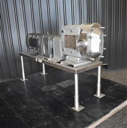 Image AMPCO ZP3-220 Rotary Lobe Pump - Stainless Steel, Sanitary 1454247