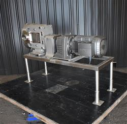 Image AMPCO ZP3-220 Rotary Lobe Pump - Stainless Steel, Sanitary 1454250