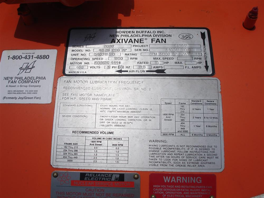 Image 15 HP AXIVANE Fan Assembly 1455708