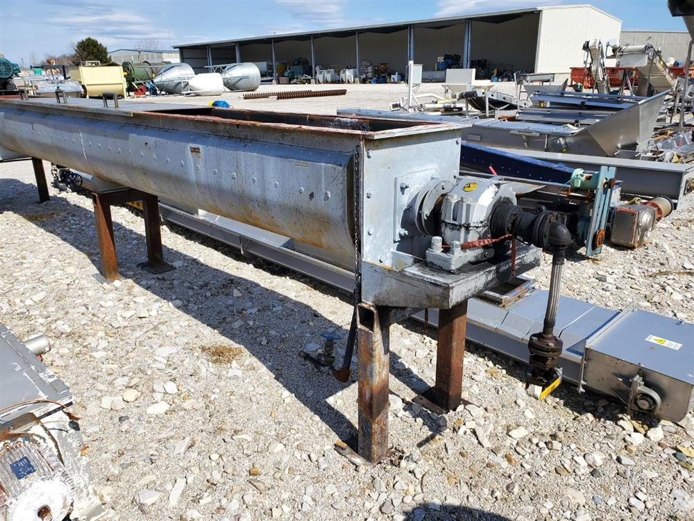Image THOMAS CONVEYOR CO. Heating Thermal Screw Auger Conveyor - 62 Sq. Ft., 18in X 20ft  1469429