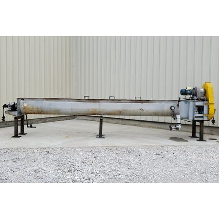 Image THOMAS CONVEYOR CO. Heating Thermal Screw Auger Conveyor - 62 Sq. Ft., 18in X 20ft  1455767